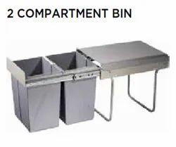 2 Comartment Bin