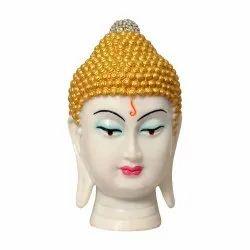 Trending Polyresin White/Black With Golden Buddha Head