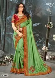 Designer Vichitra Silk Saree