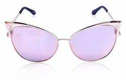 Cateye Designer Twin Beam Butterfly Shape Mirror Lenses Women Sunglasses