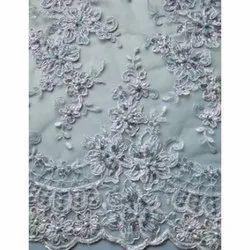 Viscose Hand Embroidered Fabric