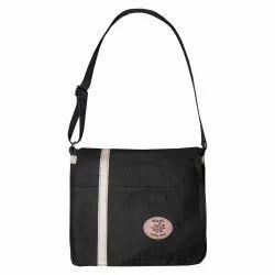 Black Goat Leather Urban Messenger Bag