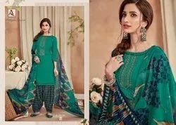 Unstitched Multicolor Alok Suit Patiyala Fusion Pure Viscose Rayon Slub, Handwash