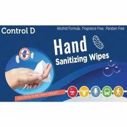 Control D Hand Sanitizer Wipes, For Personal, Pouch