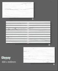 Ceramic Rectangular 12mm Glossy Digital Wall Tile, Size: 300x600mm