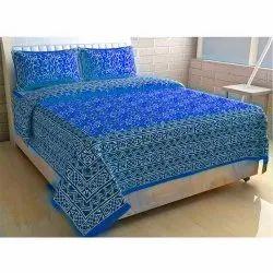 Jaipuri Blue  Bedsheet