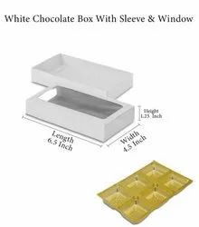 Paper Rectangle Netted Chocolate Box Top & Bottom With Window, 350, Packaging Size: 50
