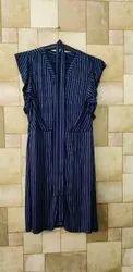Stripe Blue Ladies One Piece Dress