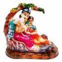 Polyresin Radha Krishna Sitting Statue