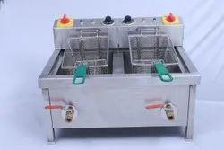 Stainless Steel Twin Tank Electric Fryer