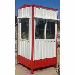 Color Coated Prefabricated Security Cabin
