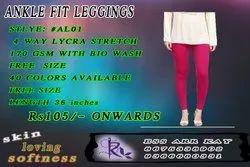 Churidar Plain Ankle Fit Leggings, Size: FREE SIZE