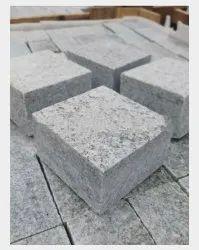 Gray Granite Cobblestone, For Landscaping, 100x100x50mm 100x100x40mm