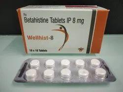 Betahistine Hydrochloride Dispersible Tablets, Packaging Size:4 x 5 x 10 Tablets, Grade Standard: Medicine Grade,Prescription