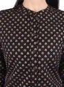 Foil Print Party Wear Button Down Kurta