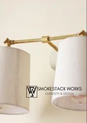 Smokestack Works Warm White Double Wall Lamp, For Home Decor