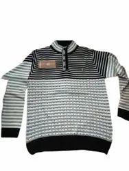 Woolen Black,White Mens Sweater, Size: Xl
