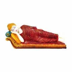 Antique Look Sleeping/Reclining Buddha Sculpture/Idol