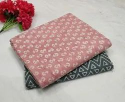 Pink & Gray Pure Cotton Fabric Suit