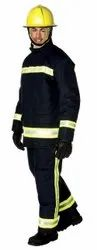 Nomex Black Bristol Navy Fireman Coat And Trouser, Size: Free Size
