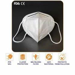 YWSH FDA, CE, ISO Certified KN95 Face Mask, 5 Layer, Reusable, Melt Blown Filter