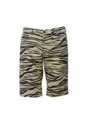Knee Length Twill Men Cotton Shorts