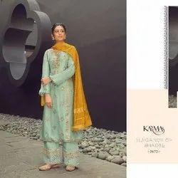 Vardan Ethnic Wedding Wear Heavy Embroidery Designer Suit, For Wedding Or Party, Musline Jacquard Dupatta