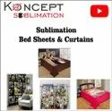 Sublimation Curtains And Bed Sheets