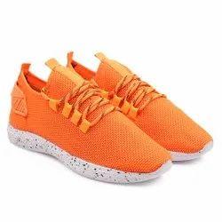 Orange Colour Ladies Sport Shoes, 4-8