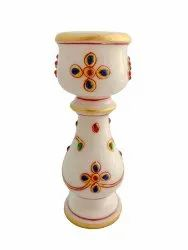 Marble candle stand 5.5 inches