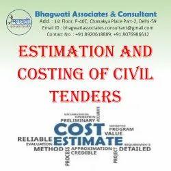 Online Estimation Costing Civil Tenders Service, in Pan India