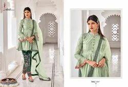 Unstitched Ladies Embroidered Anarkali Salwar Suit