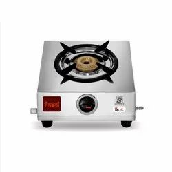 Rasoi Classic Stainless Steel 1 Burner Gas Stove, Silver (ISI Certified)