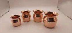 Plain Round Copper Shambhu Lota, For Puja
