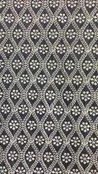Silk Mens Black Kurta Fabric, Embroidery