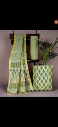 Light Green Pure Cotton Fabric Suit