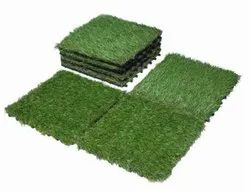 WPC Artificial Grass Decking Tile DIY for Outdoor UV Coated