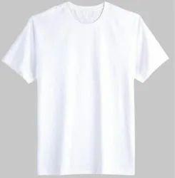 White Cotton Mens Blank T Shirt, Size: Medium