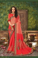 Ladies Party Wear Brasso Sarees