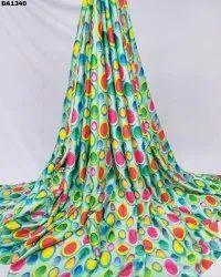 Refreshing Color Combination Baby Satin Silk Digital Print Fabric