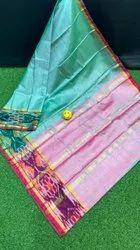 Tissue Pochampalli Border Sarees