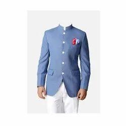 Mens Aqua Blue Jodhpuri Suit