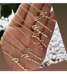 Personalized Hand Written Silver Necklace