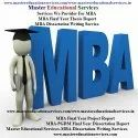 MBA Project Report Making Services