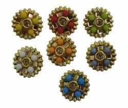 Round Metal Colour Button, For Kurti And Suits