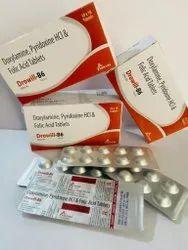Doxylamine Pyridoxine HCL And Folic Acid Tablets