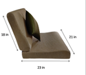 Flexi Comfort Seat Size 21X22/23/24 In And Backrest 21x18 In + Blissco Back Support