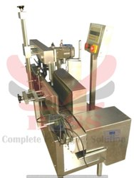 Semi Automatic Single Side Vertical Labeling M/C. - Flat Bottle