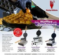 Stainless Steel Waffle Cone Maker, Packaging Type: Box