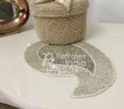 Decorative Silver Placemat